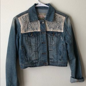 Hot kiss- Jean Jacket (gently used)